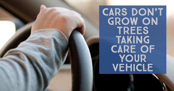 Cars Don't Grow on Trees  Taking Care of Your Vehicle